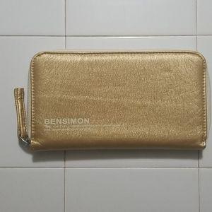 Bensimon Gold zip around Wallet